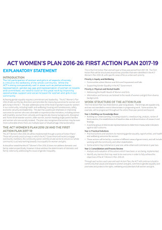 First Action Plan