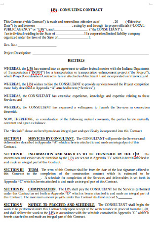 Formal Business Consulting Contract