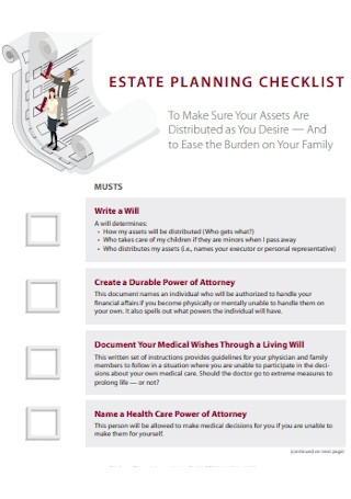 Formal Estate Planning Checklist