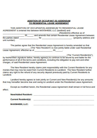 Formal Lease Agreement