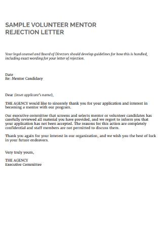 Formal Rental Rejection Letter