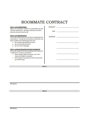 Formal Roommate Contract
