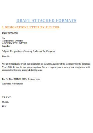 Format of Resignation Letter