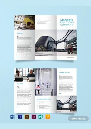 Free Modern Company Brochure Template