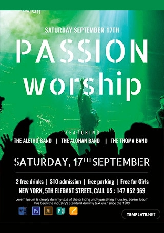 Free Passion Worship Conference Flyer Template