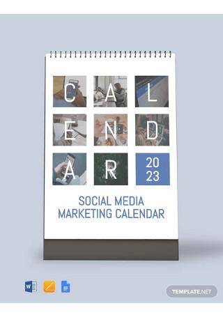 Free Social Media Marketing Desk Calendar Template
