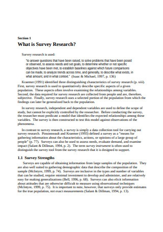 Fundamentals of Survey Research
