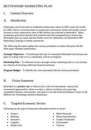 General Annual marketing Plan