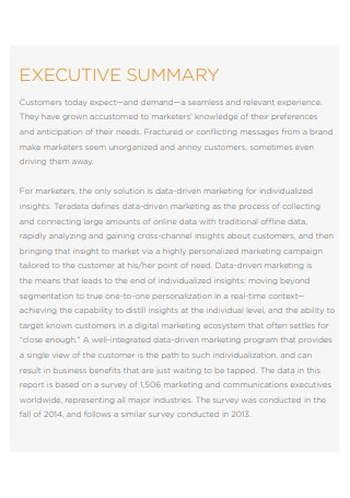 Global Data Driven Marketing Survey