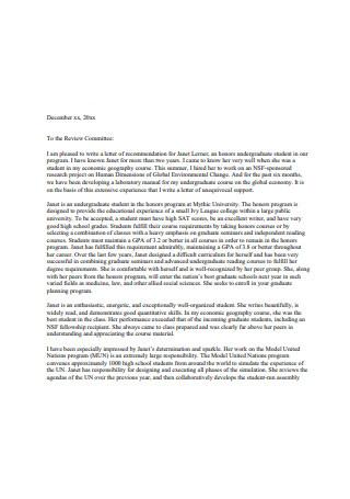 Graduate School Recommendation Letter1