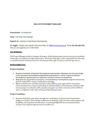 HR Project Manager Cover Letter