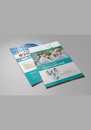 Hospital Brochure in Vector EPS
