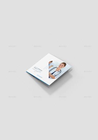 Hospital Tri Fold Square Brochure