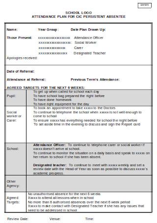 Individual Attendance Plan