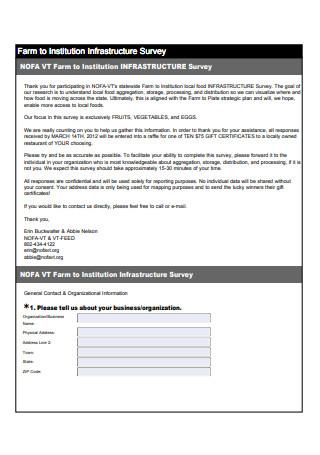 Infrastructure Survey Questionnaire