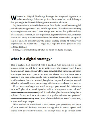 Integrated Digital Marketing Strategy