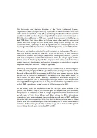 Intellectual Property Organization Survey