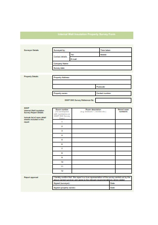 Internal Wall Insulation Property Survey Form