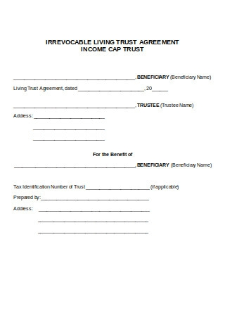 Irrevocable Living Trust Agreement Income