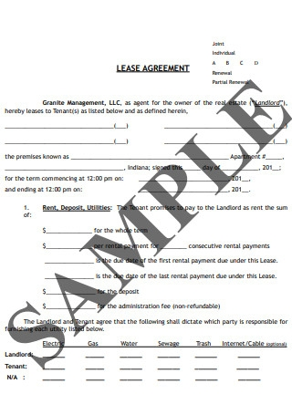 Joint Individual Lease Agreement