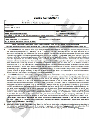 Joint Lease Agreement Format