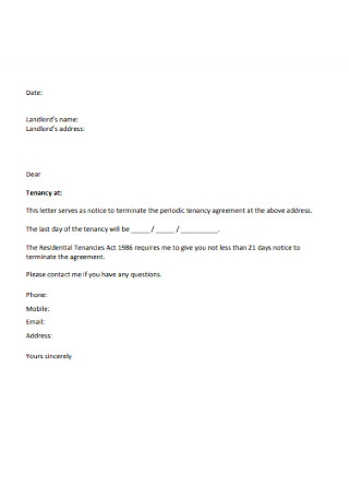 Letter To Terminate Rental Agreement From Landlord from images.sample.net