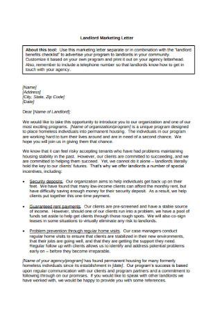 Landlord Marketing Letter