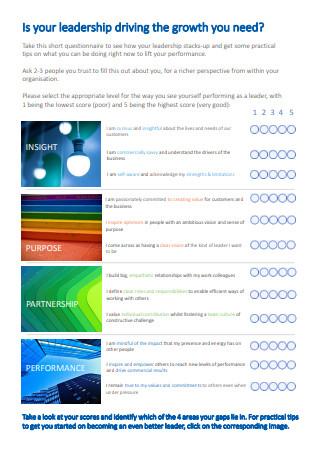 Leadership Team Questionnaire