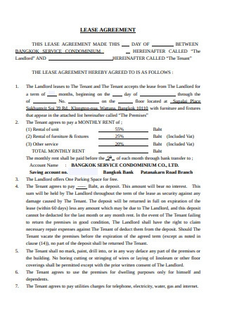 Lease Agreement of Condominium