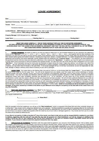 Lease Agreement with Joint Rights
