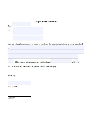 Lease Termination Letter Sample