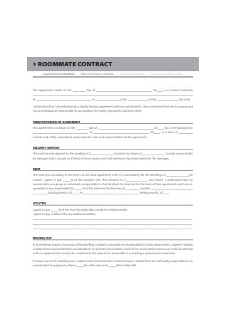 Legal Roommate Contract