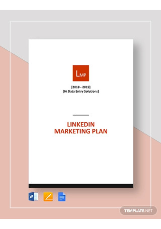 LinkedIn Marketing Plan Template