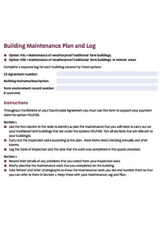 Maintenance Plan of Building1