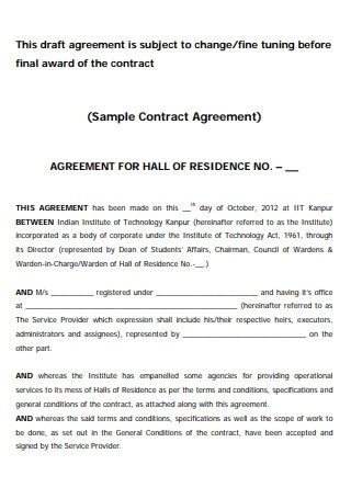 Manufacturing Contract and Agreement Form
