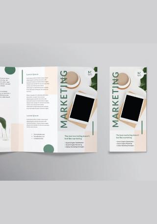 Marketing Company Agency Trifold Brochure