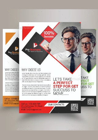 Marketing Consulting Business Flyer InDesign