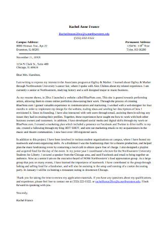 Marketing Cover Letter Sample
