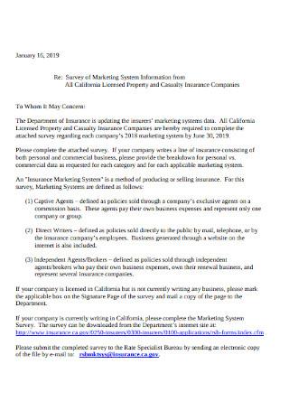 Marketing Letter Format