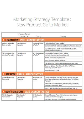 Marketing Strategy New Product