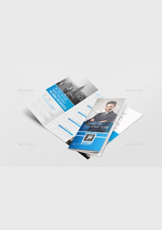 Marketing Trifold Brochure InDesign
