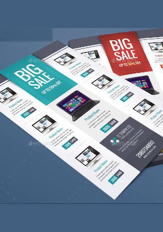 Minimal Product Sale Flyer InDesign