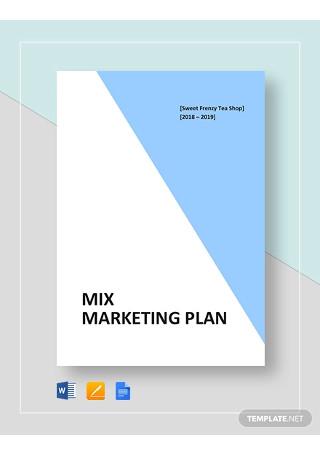 Mix Marketing Plan Template