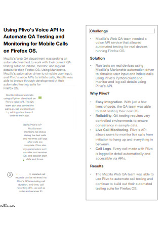 Mobile Sales Voice Call Logs