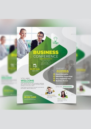 Modern Business Conference Flyer Sample