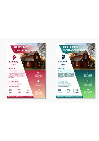 Modern Real Estate Flyer InDesign
