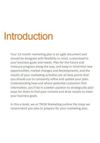Monthly Sales Marketing Plan