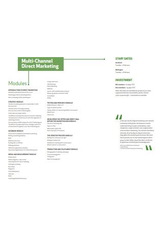 Multi Channel Direct Marketing