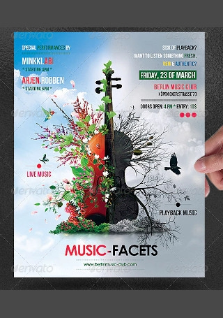 Music Facets Poster Flyer