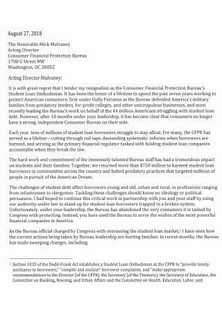 Normal Resignation Letter